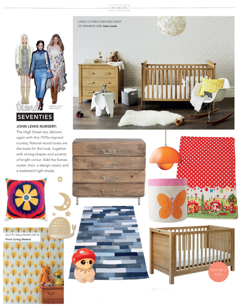 seventies inspired nursery