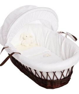 Izziwotnot White Gift Moses Basket