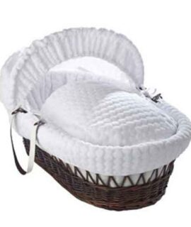 Marshmallow White Wicker Moses Basket