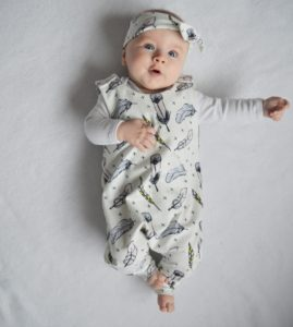 sew cuddly feather romper