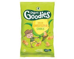 Organix Goodies Sweetcorn Salsa Snappy Crocs