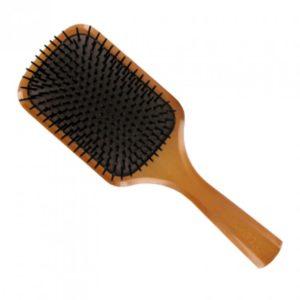Wooden paddle brush, £19, Aveda