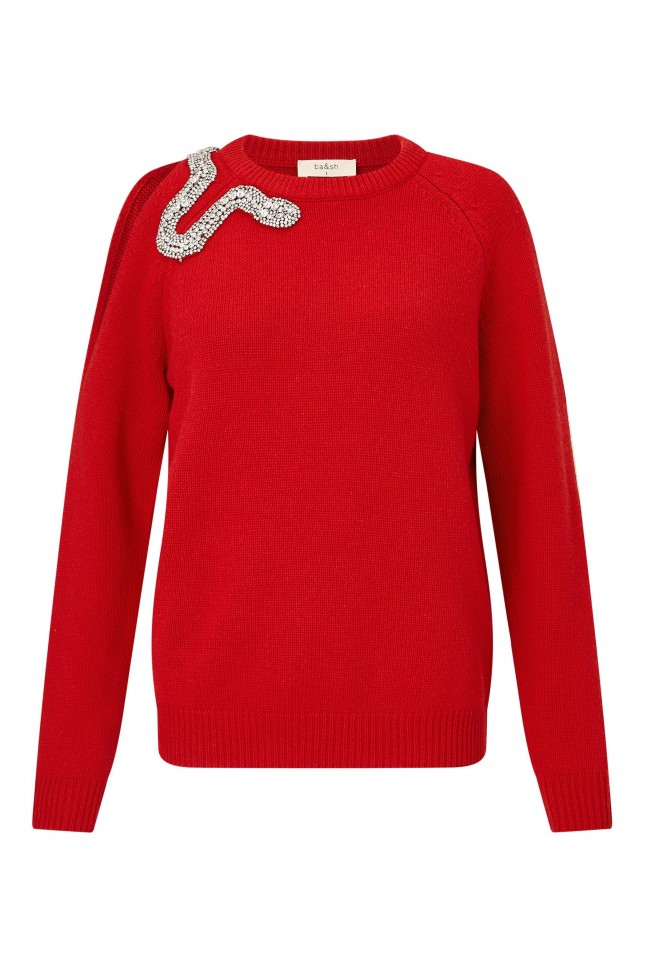 BA&SH Ossie Snake Wool and Cashmere Sweater £300