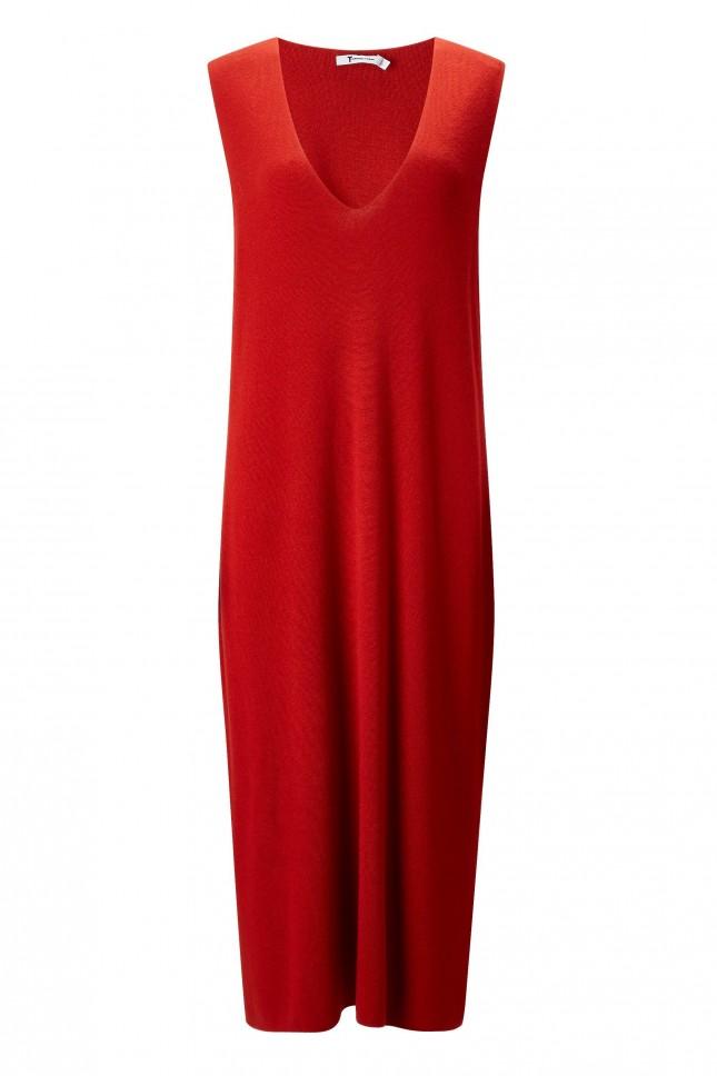 T by Alexander Wang Merino Deep V Neck Dress £290