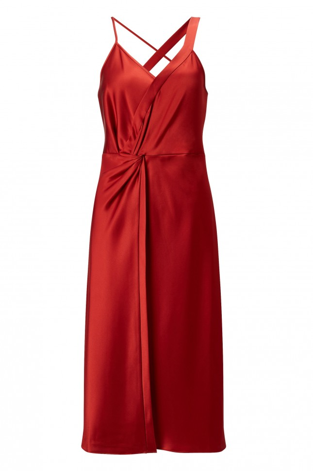 T By Alexander Wang Knot Waist Midi Dress