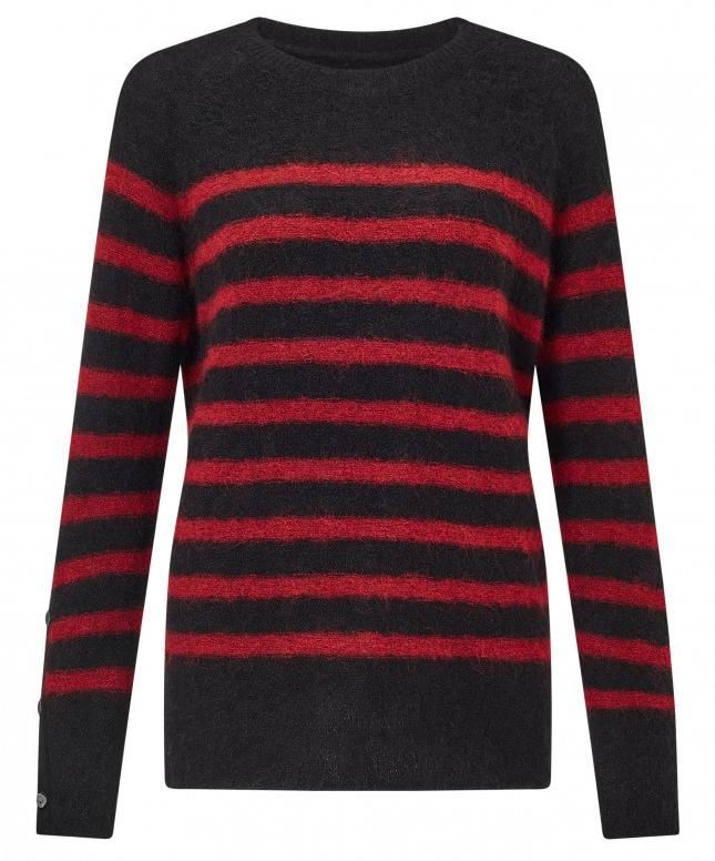 Iwannio Striped Crewneck Sweater