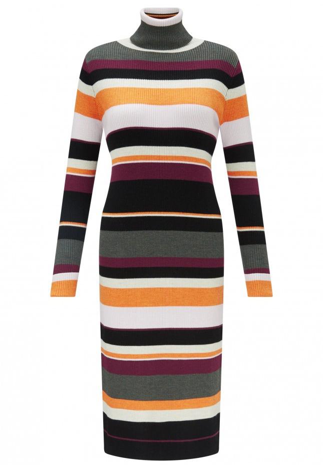 Merino Wool Turtleneck Dress
