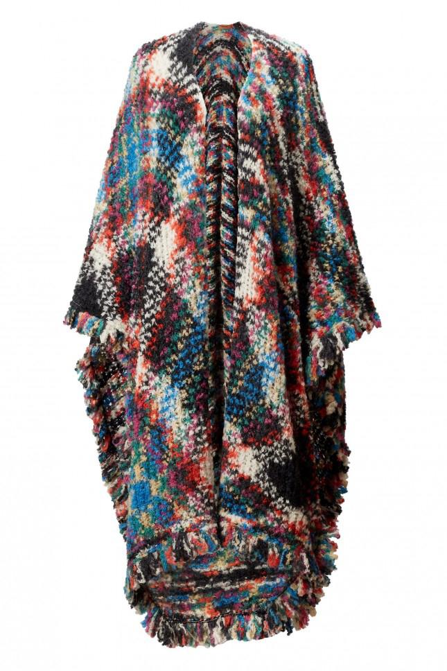 Missoni heavy knit fringe shawl